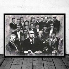 Padrinho scarface sopranos filme posters e impressões quadros de lona na parede do vintage decoração para casa