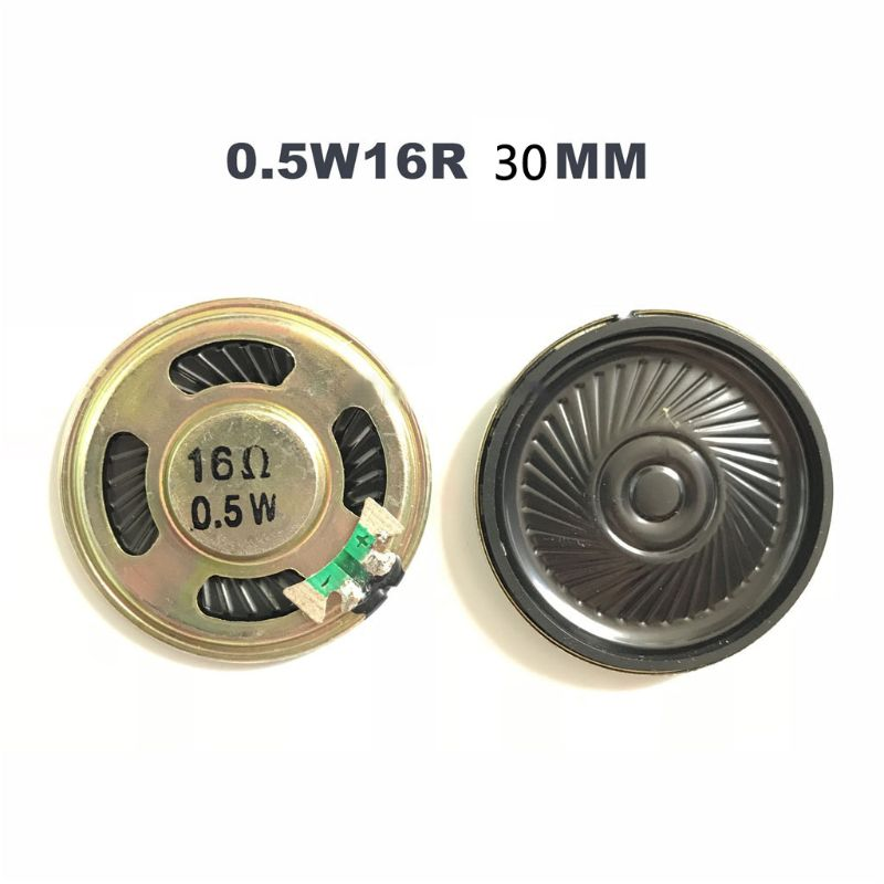 2pcs/lot New Ultra-thin Speaker 16 Ohms 0.5 Watt 0.5W 16R Speaker Diameter 30MM 3CM Thickness 5MM Whosale & Dropship