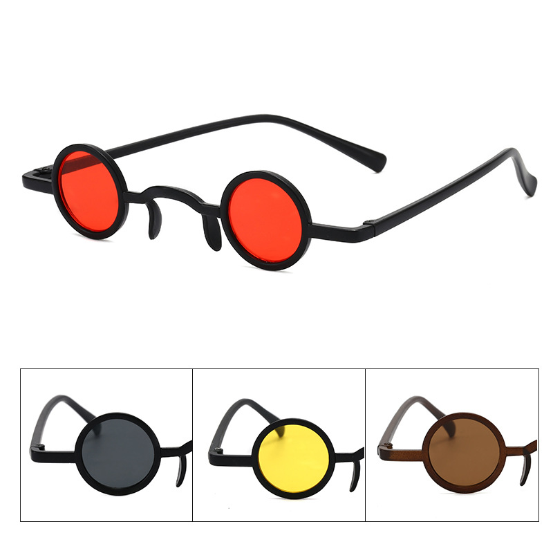 Ultra Small Frame Hip Hop Steampunk Retro Round Frame Sunglasses Steampunk Goggles Carnival Purim Party Mardi Gras Fancy Eyewear