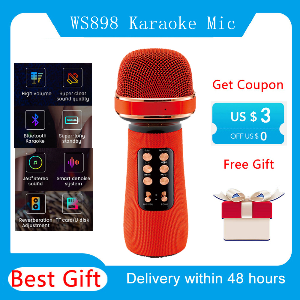 Micrófono de Karaoke máquina de canto inalámbrica con Altavoz Bluetooth para Teléfono Celular/PC, micrófono portátil de mano soporte Reverb/Duet