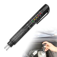 Płyn hamulcowy pióro testowe narzędzie diagnostyczne pojazd 5 LED światła pojazdu narzędzia diagnostyczne wsparcie DOT3 DOT4 DOT5 samochód Auto narzędzie tanie tanio Less 1W Plastic Silnik analyzer 0 03 1 5V