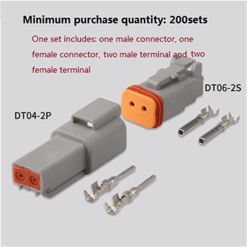 DTP04-2P,DTP06-12S Free shipping 200sets Deutsch  connector,for VW,BMW,Audi,Toyota,NISSAN.