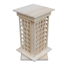 купить 104 Holes Solid Wooden Rotating Essential Oil Bottle Holder Classification Display Stand Table Diffuser Holder Makeup Storage Ra дешево
