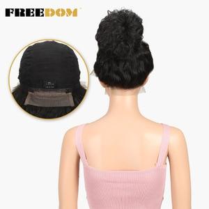 Image 5 - FREEDOM Synthetic Lace ด้านหน้า Wigs 40 นิ้ว Supper ยาวธรรมชาติลึก Wave Ombre สีบลอนด์ 613 สี Wigs ผมแฟชั่นผู้หญิง