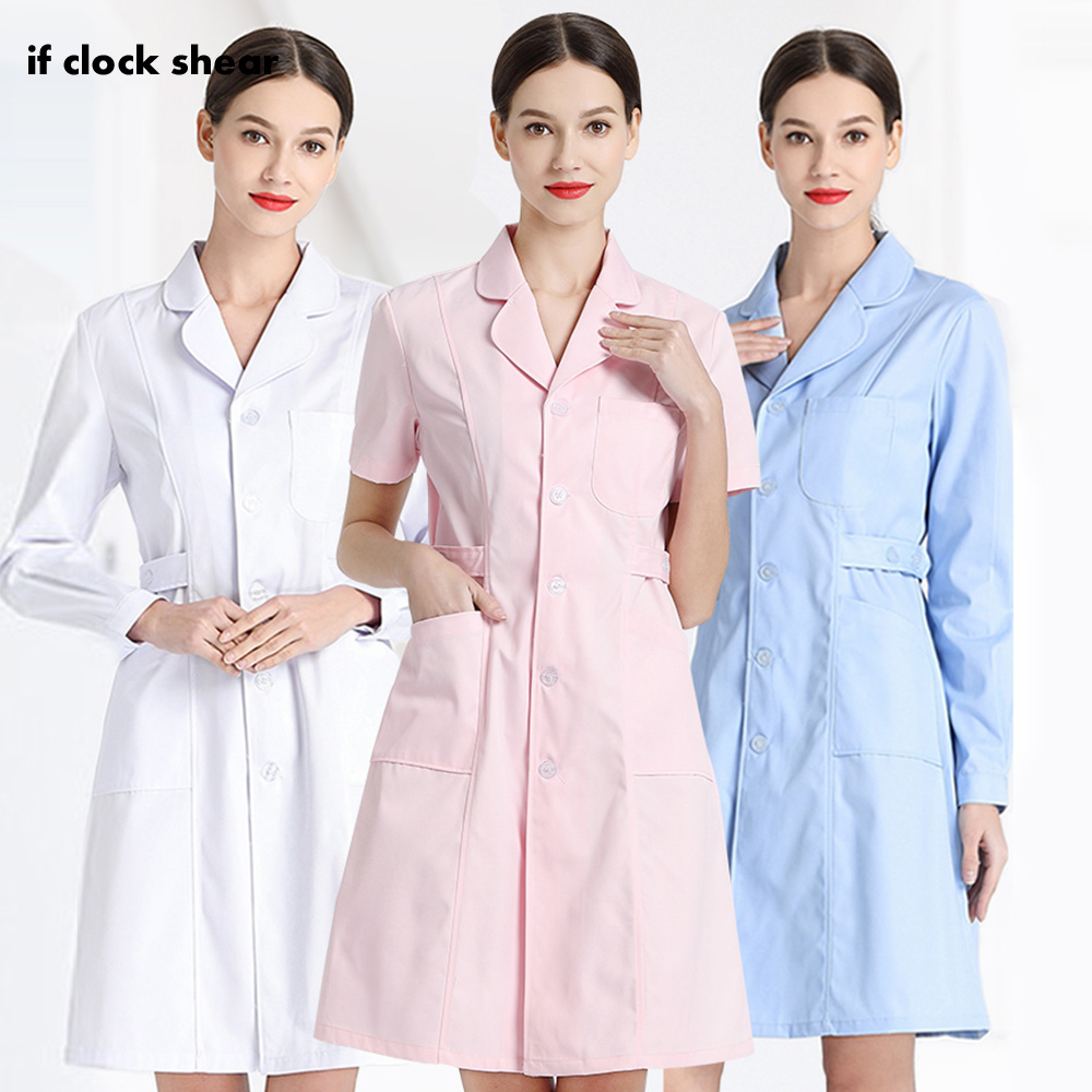 Dentistry Pet Doctor Workwear Short/long Sleeved Medical Scrubs Nursing Uniform Surgical Gown For Women Pharmacy Work Clothing