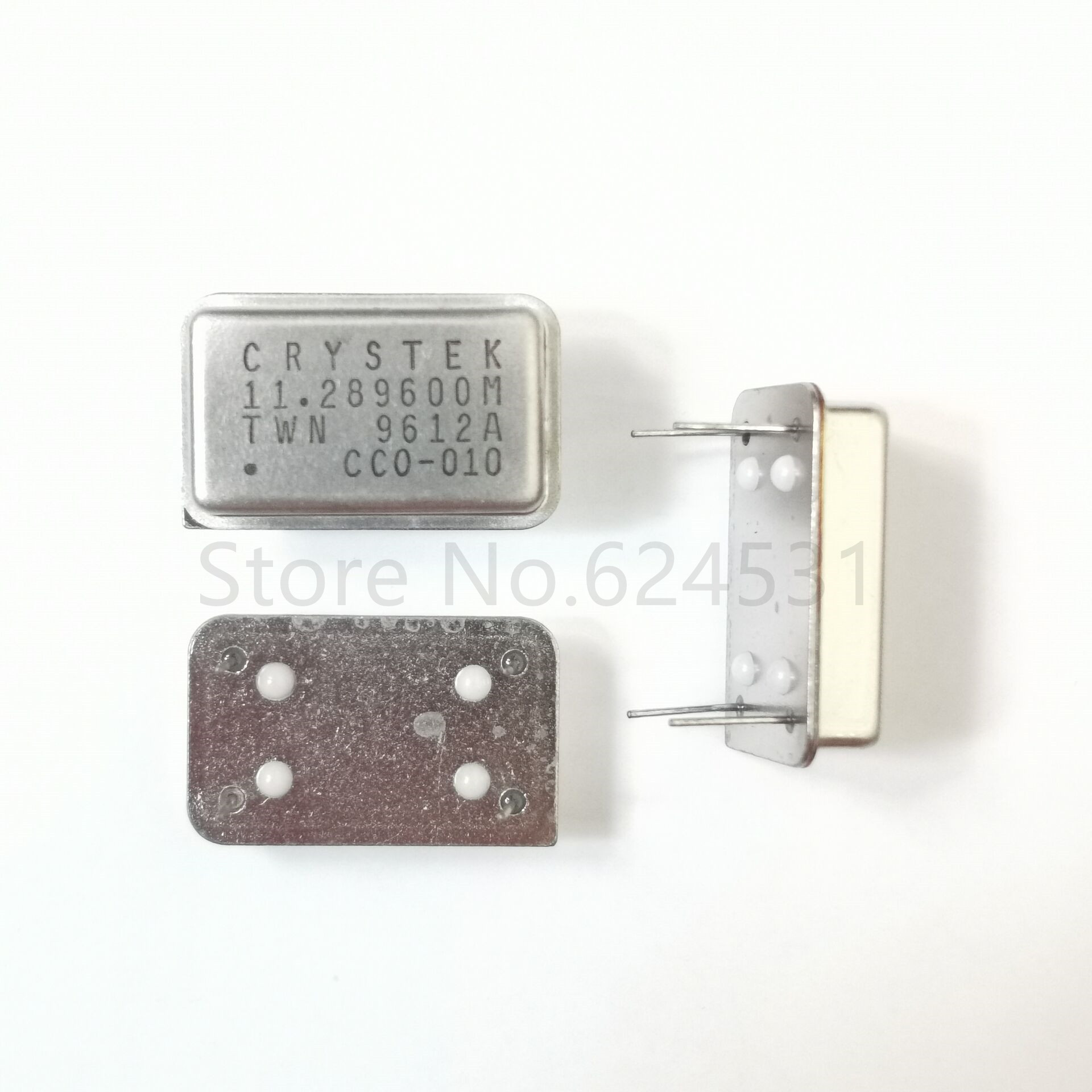 5pcs In-line Active Crystal OSC DIP-4 Rectangular Clock Vibration Full Size 11.2896MHZ
