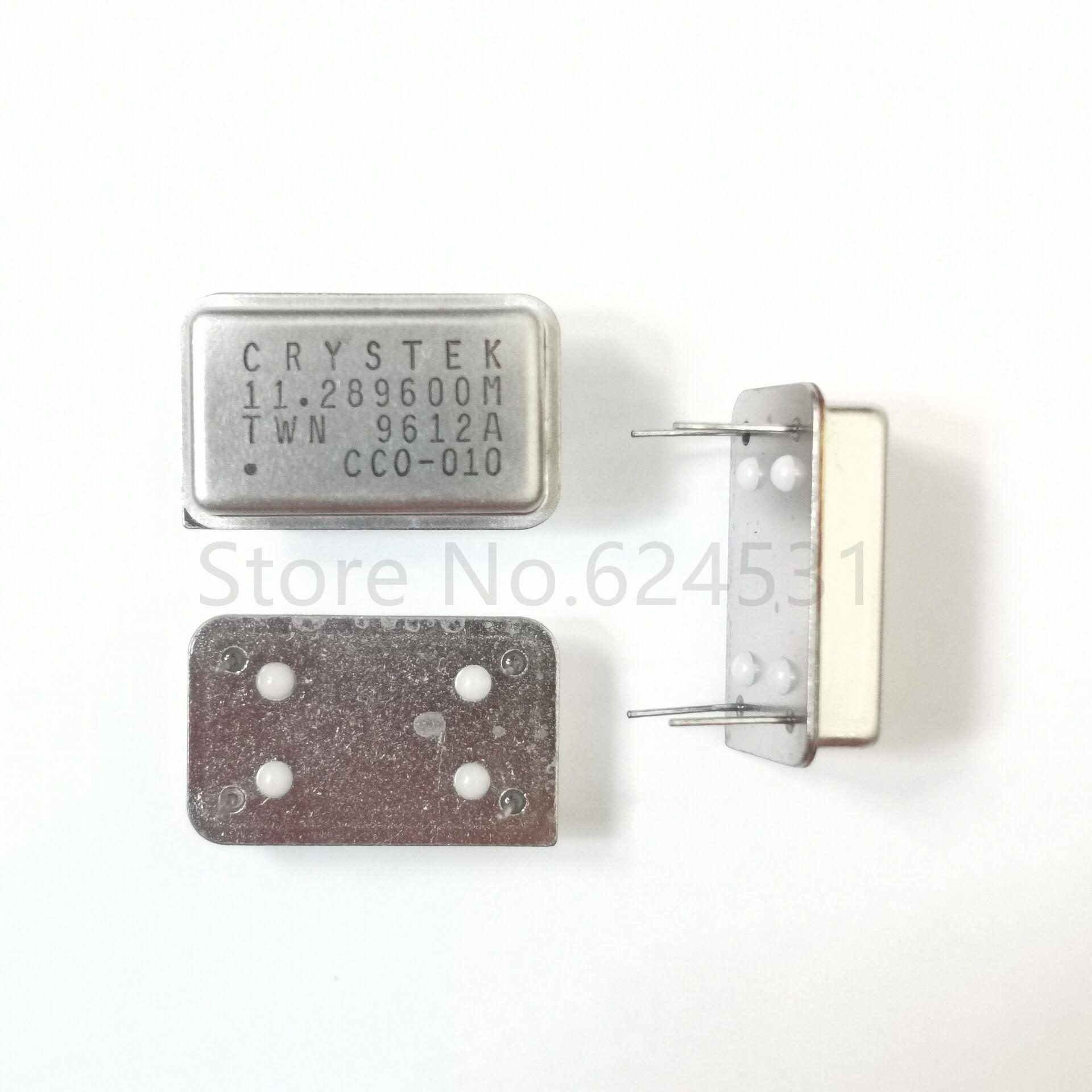 5pcs In-line Active Crystal OSC DIP-4 Rectangular Clock Vibration Full Size 11.2896MHZ