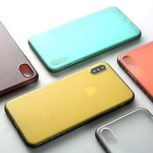 все цены на Ultra thin armor case for iphone XS Max X XR case For iphone 7 8 6 6s Plus Clear Matte hard phone case protective cover