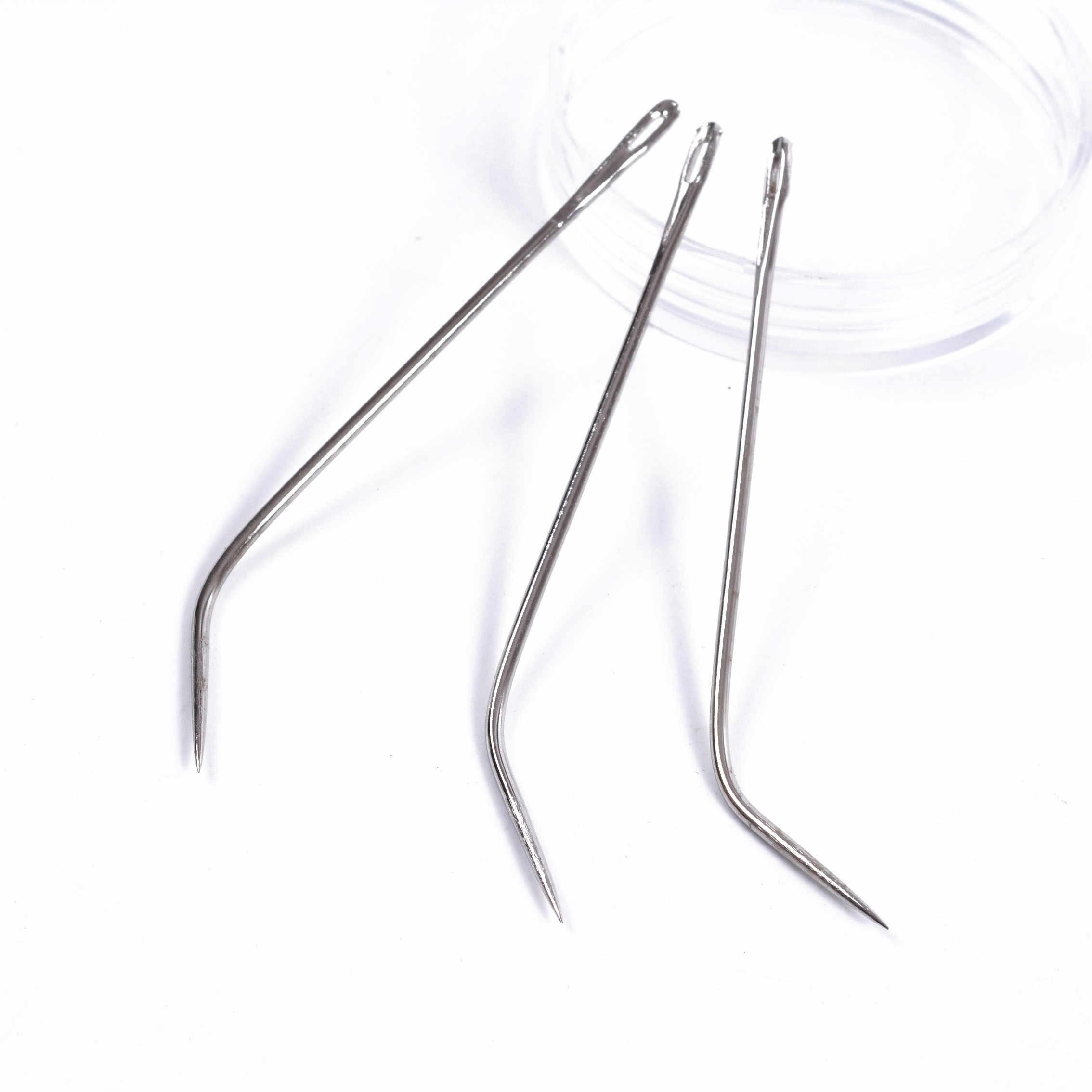 12 Uds. Tipo J aguja de tejer gancho/agujas de coser para cabello humano extensión hilada para el cabello herramientas de tejer
