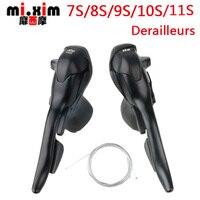 Mi.xim7/8/9/10/11 Speed Road Bike Shifters 21/24/27/30/33 Speed conjoined DIP Mountain Cheap Bike Derailleurs Parts durable