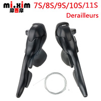 Mi.xim7/8/9/10/11 Speed Road Bike Shifters 21/24/27/30/33 Speed conjoined DIP Mountain Cheap Bike Derailleurs Parts durable