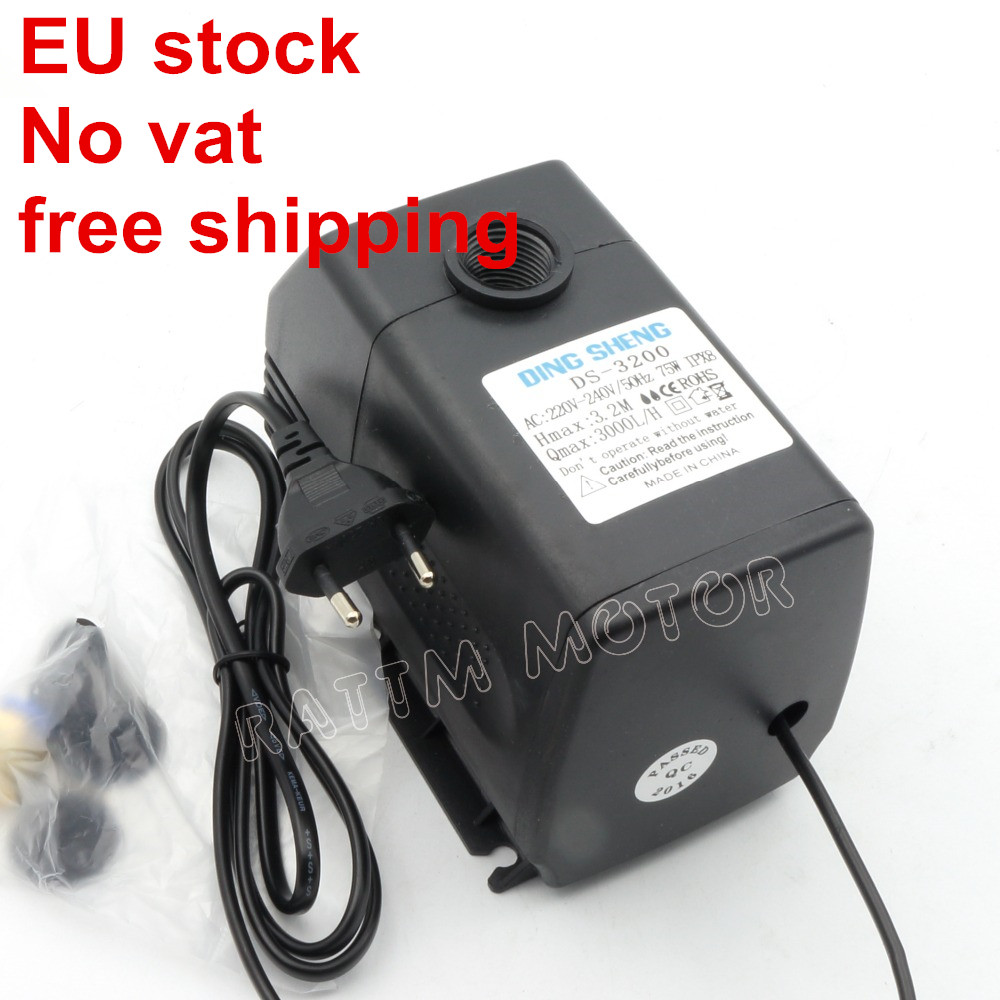 EU Ship75W CNC <font><b>spindle</b></font> <font><b>motor</b></font> water pump 3.2m <font><b>110V</b></font>,220VAC machine accessories From RATTM <font><b>MOTOR</b></font> image