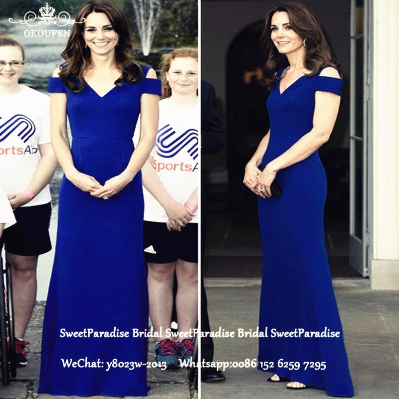 Royal Blue Satin mère de la mariée robes à manches courtes pas cher en gros sirène longue soirée robe de bal pour les femmes