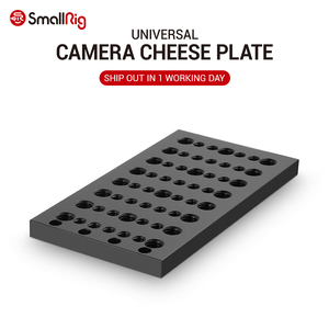 SmallRig Camera Stabilizer Cheese Plate Multi-purpose Dslr Mounting Plate with 1/4 3/8 thread holes - 1092(China)