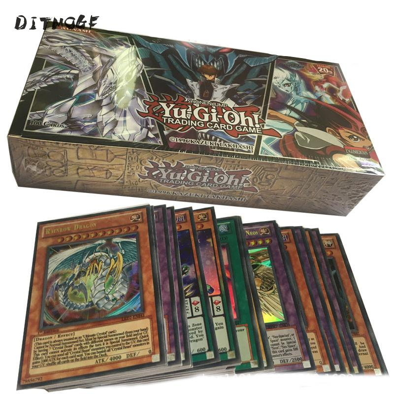 100PCS Japan Yu Gi Oh Game Playing Cards With Box Carton Yugioh Game Cards Japan Boy Girls Yu-Gi-Oh Cards Collection For Fun Toy