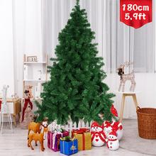 1.8m Artificial Christmas Tree with Metal Stand for 2021 New Year Gifts Home Office Living Room Xmas Holiday Party Decorations
