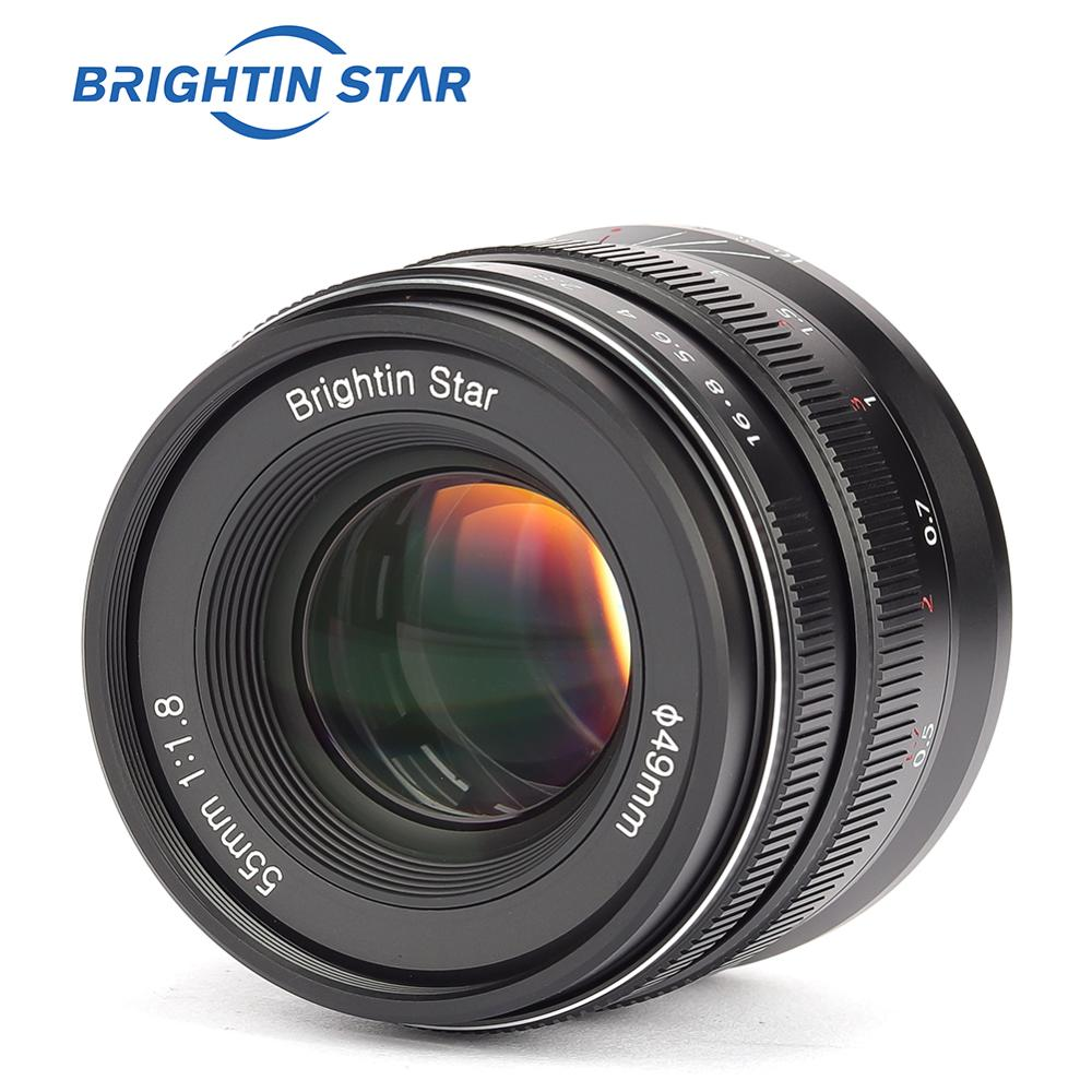 Brightin star 55mm F1.8 plein cadre grande ouverture mise au point manuelle objectif fixe premier pour appareil photo sans miroir à monture RF Canon