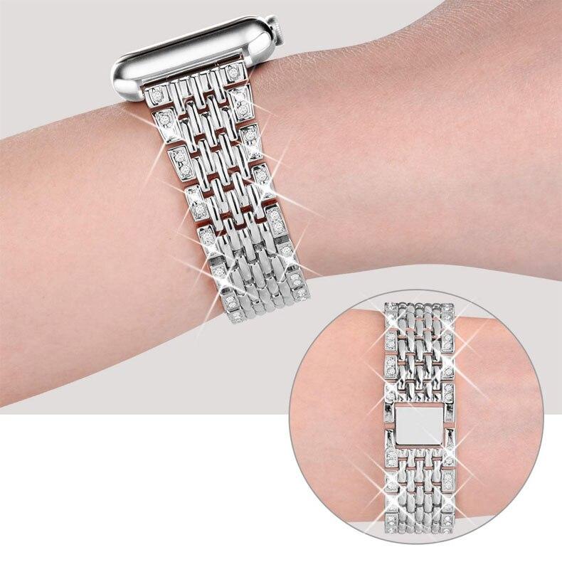 Bracelet en métal pour Bracelet de montre apple 40mm 38mm 42mm 44mm montre apple 5 4 3 2 1 i Bracelet de montre Bracelet en acier inoxydable