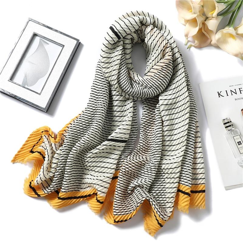 2020 Winter Scarf For Women Fold Blanket Warm Cotton Shawls And Wraps Bandana Female Pashmina Crinkle Hijabs Headband Foulard