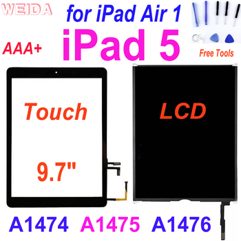 AAA+ iPad 5 LCD for 9.7 iPad Air 1 A1474 A1475 A1476 LCD Display Touch Screen Digitizer Replacement for iPad air iPad5 Display image