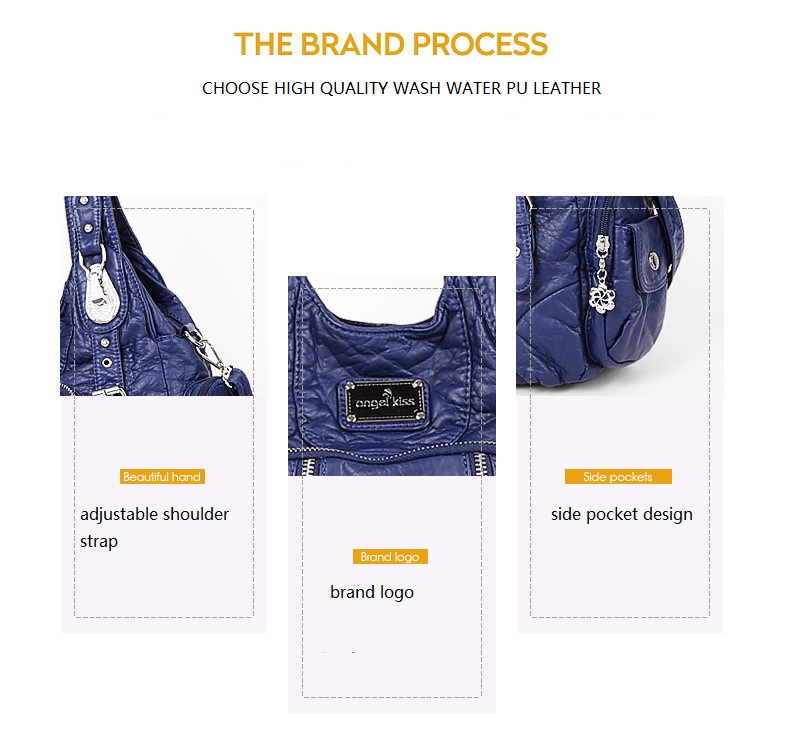 Angelkiss moda bolsas de ombro feminina bolsas