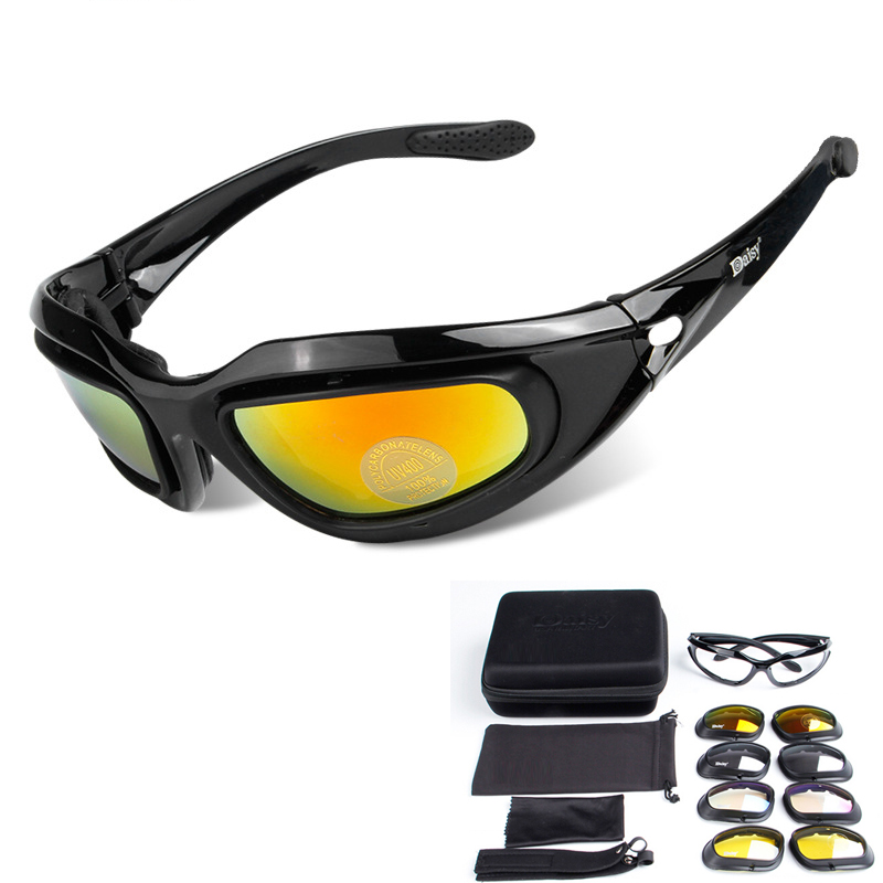 Polarized Glasses Daisy C5 Tactical Military Eyewear Men Hunting Shooting Airsoft Goggles 4 Lenses Glasses