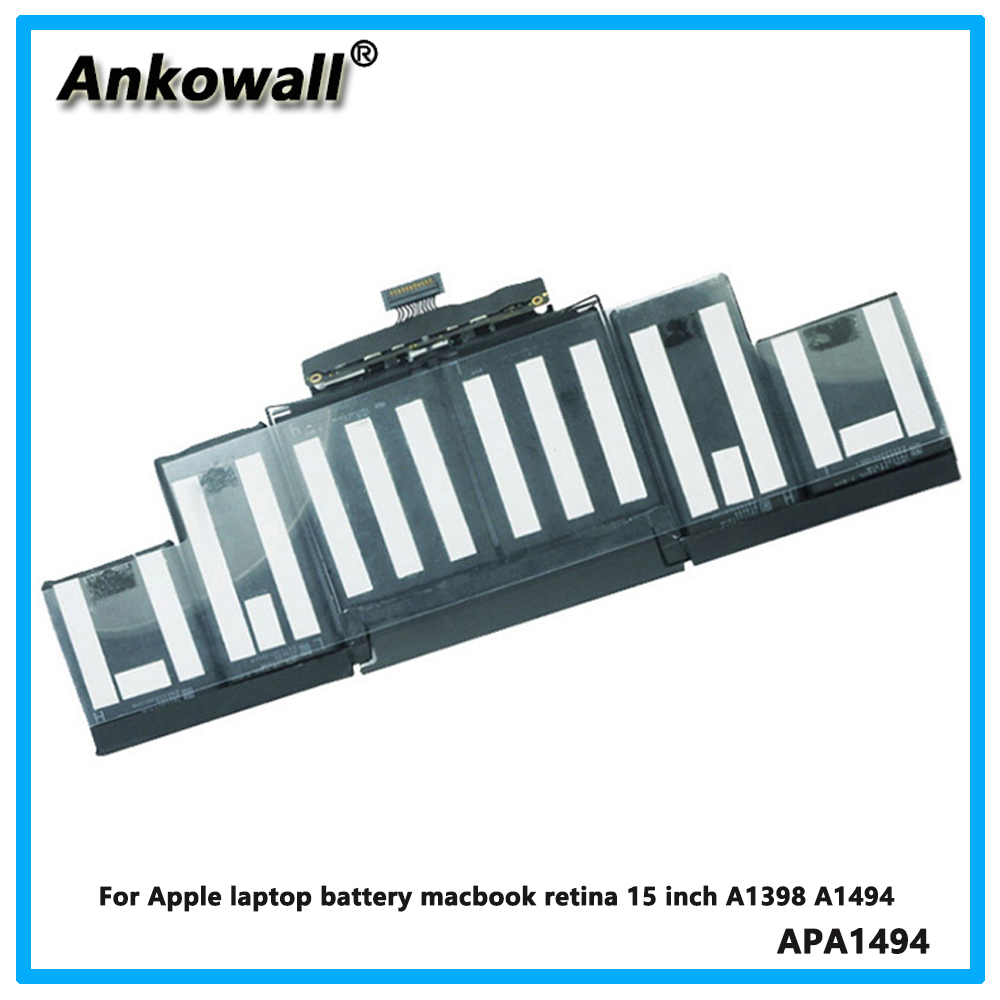 For Apple laptop battery macbook retina 15 inch A1398 A1494 computer battery