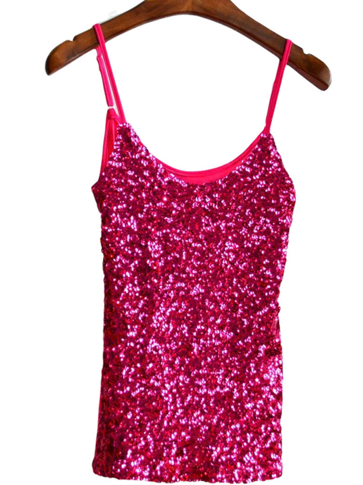 Shirt Glitter Sequin Women Outfits-Vest Clubwear Tank-Top Night-Tanks Party Sexy Ladies
