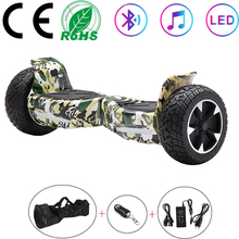 Hoverboard 8.5 Inch Green Electric Scooters All-terrain Self Balancing Scooters Off-road Two Wheels Balance Boards Bluetooth+Bag