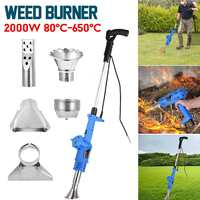 Cortador de grama elétrico weeder 3 em 1 2000 w ferramentas de jardim de energia ervas daninhas queimador profissional capina punho destacável de alta eficiência Enxada     -