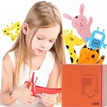 96 шт. Дети мультфильм DIY красочные бумага резка складывание игрушки детский сад дети образование искусство ремесло с ножницами инструменты подарки