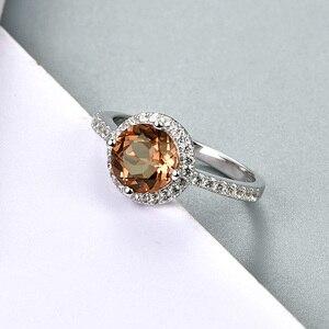 Image 3 - Zultanite султанит изменение цвета כסף טבעת נשים אופנה 2.3 קראט נוצר Diaspore S925 נישואים צבע שינוי אבן