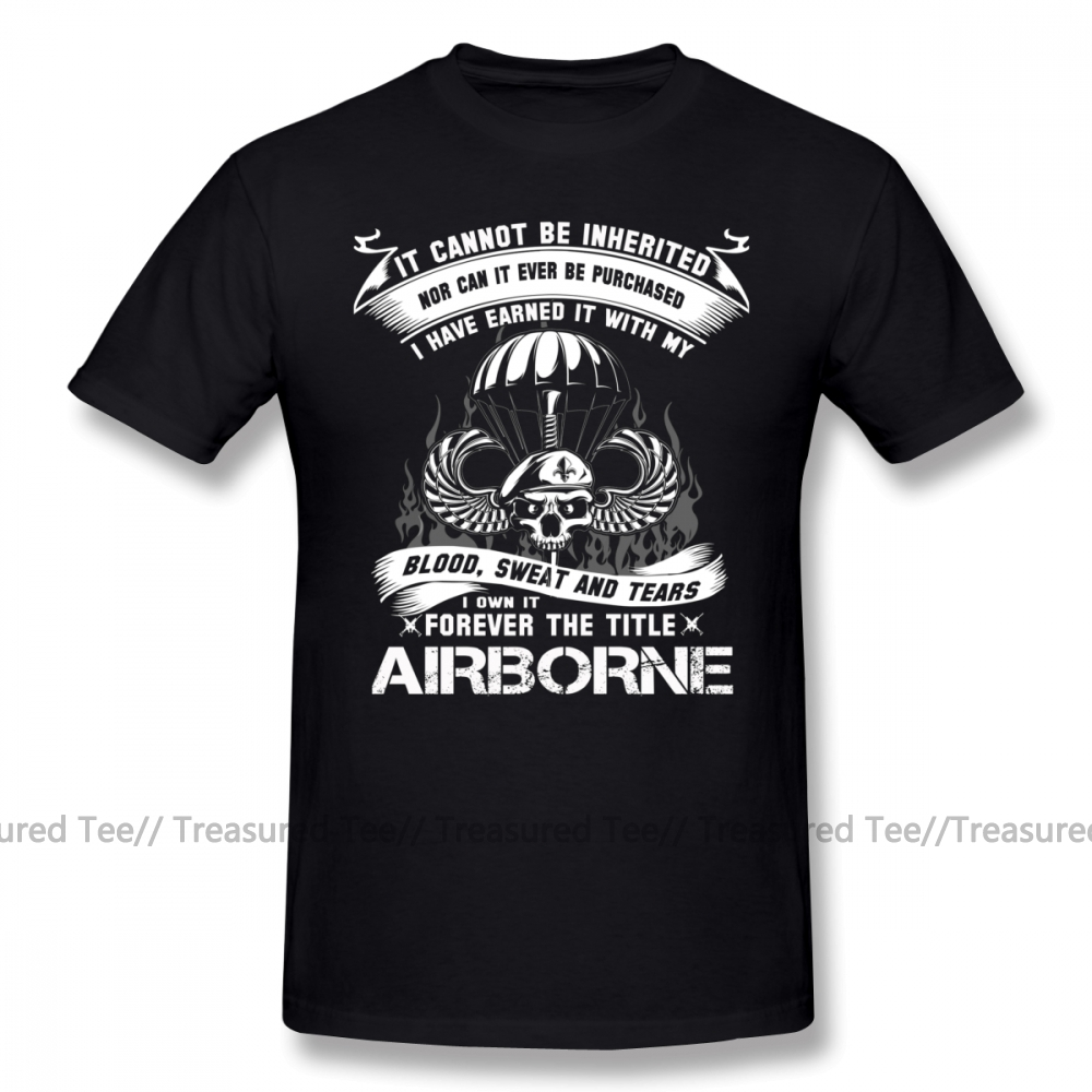 Paratrooper T Shirt Airborne Infantry Mom Jump Wings Badge Brot T-Shirt 100 Percent Cotton Printed Tee Shirt Summer Male Tshirt