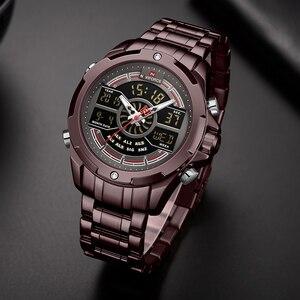 Image 5 - NAVIFORCE reloj deportivo de lujo para hombre, cronógrafo militar, resistente al agua, con retroiluminación, de cuarzo Digital, Masculino