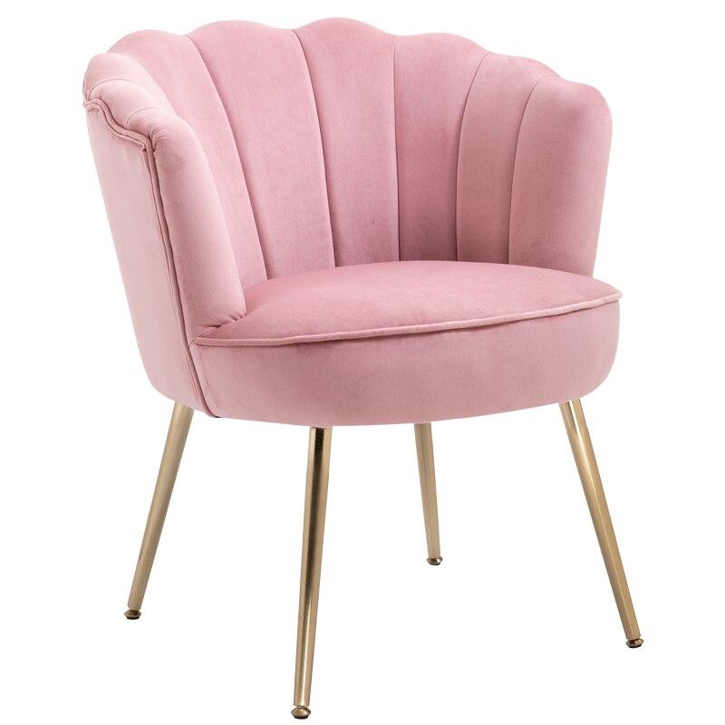 Lumière luxe tissu salle à manger chaise unique salon balcon chambre petit appartement Simple moderne chaise longue meubles nordiques