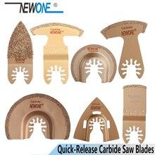 NEWONE 6pcs/set Quick Release Oscillating Tool Saw Blades Carbide Grinding Blades for multi tool fit Dewalt Black&Decker Fein