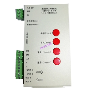 Image 4 - T1000S SD بطاقة APA102 WS2801 WS2811 WS2812B LPD6803 DMX512 LPD8806 LED 2048 بكسل تحكم DC5 ~ 24V T 1000S RGB تحكم
