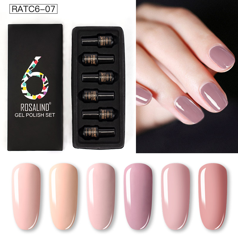 ROSALIND Gel Nail Polish Set Solid Color Nail Kit For Manicure Vernis Semi Permanent 7ML Gel Kit Top And Base All For Manicure 21