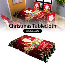 Christmas Table cloth Dinner Party New Year Printed Rectangle Polyester Tablecloth Cover Xma Decorations