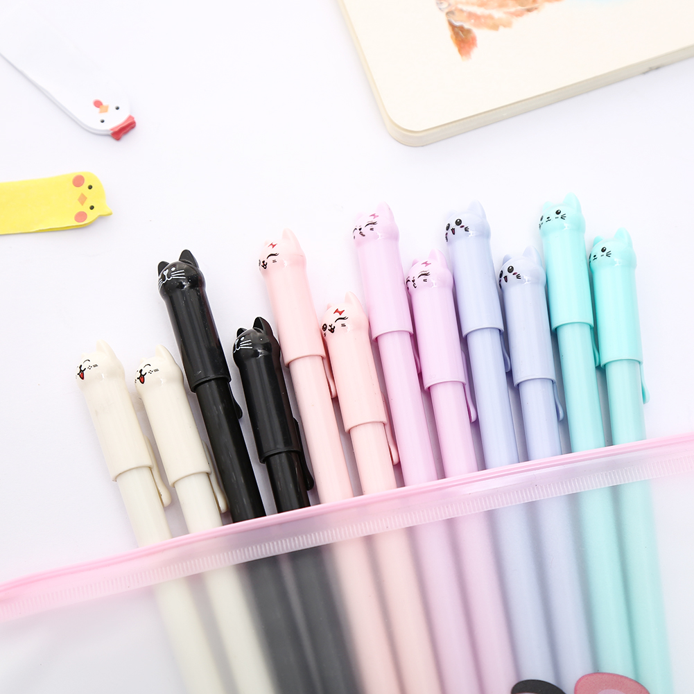 Cute Novelty Black Gel Ink Pens Creative Fun Pen School Home Writing Stationery