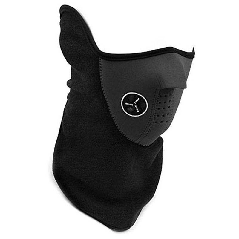 Outdoor Masks Airsoft Warm Fleece Half Face Mask Cover Face Hood Protection Winter Neck AD0658
