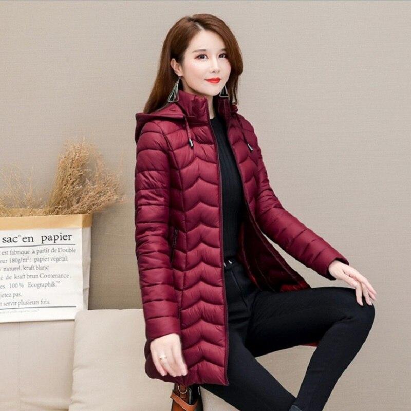 Parkas   mujer 2019 new winter jacket women long Korean fashion coat female slim slimming hooded down cotton jacket casaco feminin