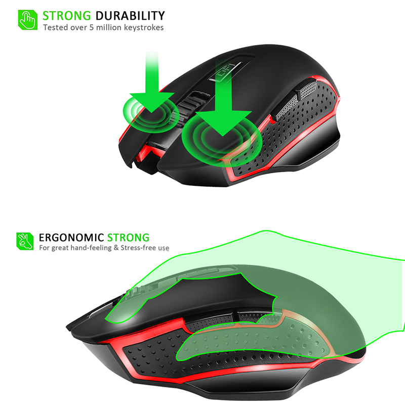 G821 Wireless Optical Gaming Mouse 2.4G Wireless Portable Ergonomic Mouse AS99