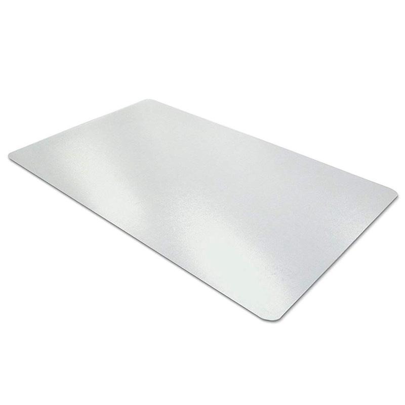 HOT-Clear Desk Pad, 35.5 Inch X 17.7 Inch Non-Slip Textured PVC Soft Desk Writing Mat - Round Edges Desk Protector