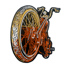 MOTORCYCLE large Embroidered backing punk biker Patches Clothes Stickers Apparel Accessories Badge