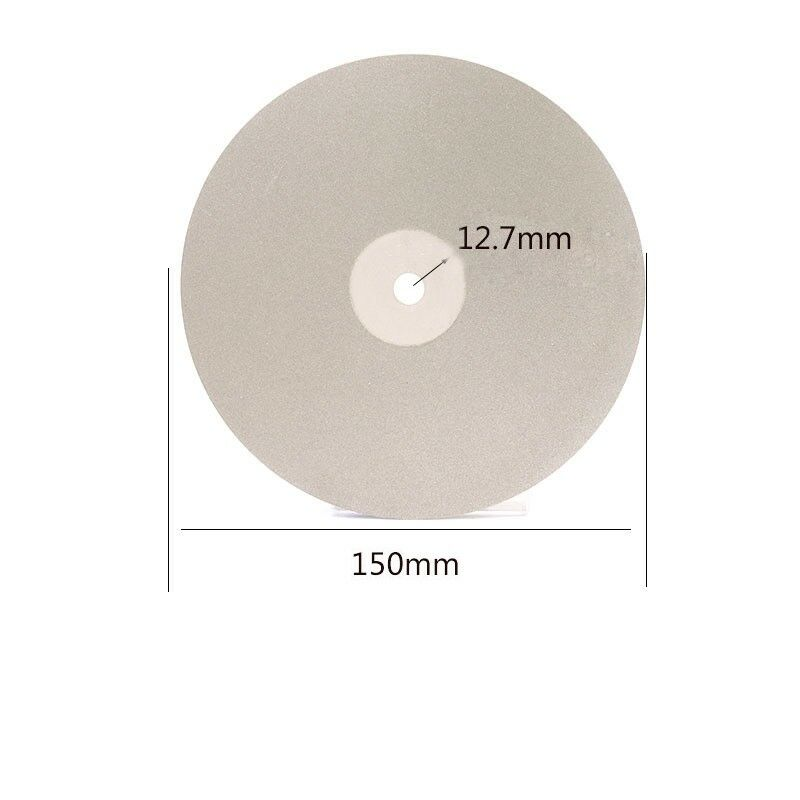 "6/"" 150mm Diamond Coated Flat Lap Wheel Jewelry Polish Grinding Disc 80~3000 Grit"