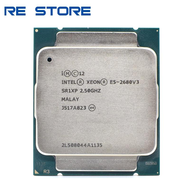 Б/у Intel Ксеон E5 2680 V3 процессор SR1XP 2,5 ГГц 12 жильная 30 Мб разъем LGA 2011-3 Процессор E5 2680V3