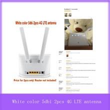 Couleur blanche 5dbi 2 pièces 4G LTE antenne huawei b593 B535 B890 B315 B310 B880 B525 AVEC connecteur sma