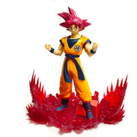 Dragon Ball Z Goku Action Figure Toy Dragonball Super Saiyan God Red Hair Son Goku Anime DBZ Model Doll Toys for Children