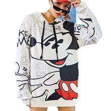Alta calidad 2019 nuevo Otoño Invierno Mickey dibujos animados impreso pulóver mujeres Sudadera Mujer moda suelta Sudadera con capucha sudaderas